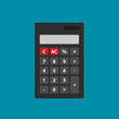 Flat vector calculator icon isolated on color background