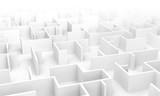 Fototapeta Przestrzenne - Labyrinth maze 3D