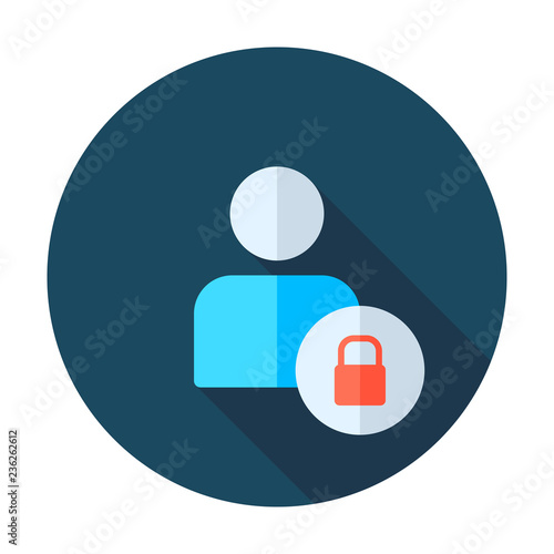 User login or authenticate icon, vector Wallpaper Mural