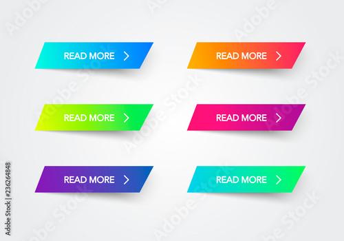 Fotografía  Read More colorful button set on white background