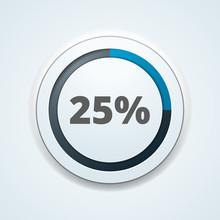 25% Button Illustration