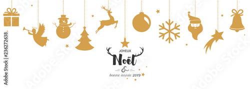 Carte De Noël 2019 Avec Boules Dorées Suspendues Kaufen Sie Diese