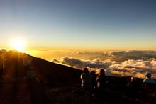 The Sunset At The Top Of The Haleakala, MAUI, HAWAII
