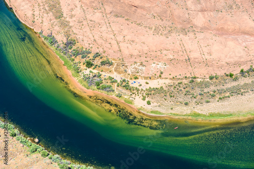 Foto op Aluminium Verenigde Staten Grand Canyon with Colorado River - Located in Page, Arizona - Viewpoint at Horseshoe Bend - USA