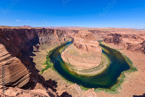 Foto op Aluminium Verenigde Staten Viewpoint at Horseshoe Bend - Grand Canyon with Colorado River - Located in Page, Arizona - United States