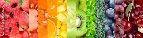 Deurstickers Keuken Fruits and vegetables background