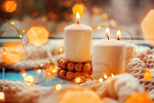 Fototapeta  three burning candles