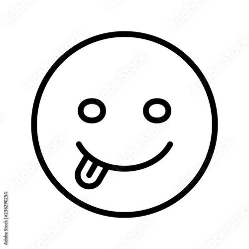 Fotografie, Obraz  Tongue Emoji Vector Icon
