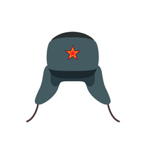 Russian Traditional Wool Hat Vector Illustration