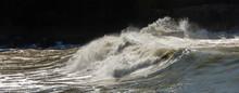 Big Waves  Breaking On The Coast - Liguria Italy