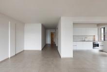 Modern Kitchen In Empty Apartment