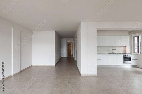 Stampa su Tela Modern kitchen in empty apartment