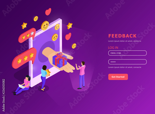 Foto  CRM Feed Back Isometric Composition