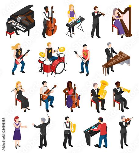Fotografia, Obraz Musicians Isometric People