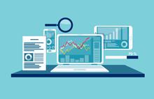 Concept Of Data Monitoring, Web Traffic Analytics.