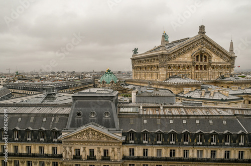 View on the rooftops of Paris with the back of the famous Opéra Garnier theatre, Poster Mural XXL