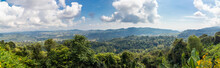 Panoramic Top Trees View Of Khao Kho Mountains And Cloudy Skys. High View