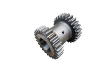 Truck Reverse Gear Box Gear Unit On Isolated White Background