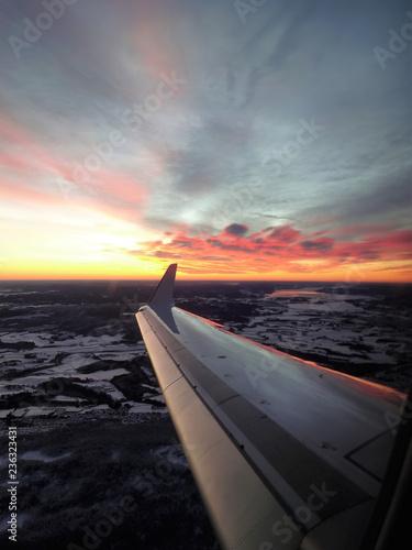 Landung in Oslo in der Frühe...