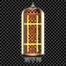 Nixie Tube Indicator Lamp With Symbol