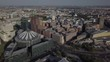 Aerial Helicopter View Berlin Downtown including Potsdamer Platz