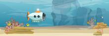 A Submarine Explores The Botto...