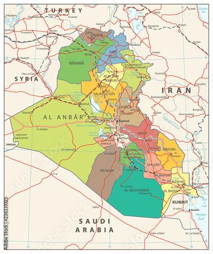 Fotografija  Iraq political map
