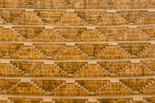 Close Up Shot Of The Amazing Architecture Of The Patterned Stairs At Abhaneri Baori Stepwell In Jaipur Rajasthan. This Landmark Is A Water Storage Well And Is Now A Protected Monument