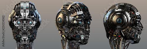 Fotografía Robot head or very detailed cyborg face