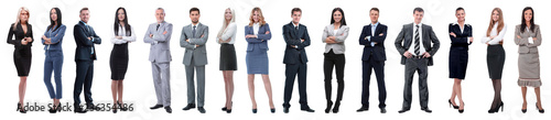 Young attractive business people - the elite business team Wallpaper Mural
