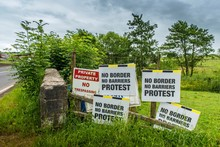European Border Between The Republic Of Ireland And Northern Ireland, Which Could Become A Hard Border After The Brexite Negotiations Between The EU And Great Britain, Blacklion, County Cavan, Ireland, Europe