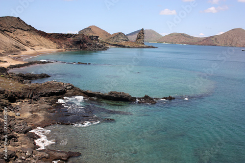 Poster Zuid-Amerika land Sunken crater, Bartolomè Island, Galápagos Ecuador