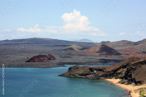 Poster Zuid-Amerika land Bartolomé Island in the Galápagos Island
