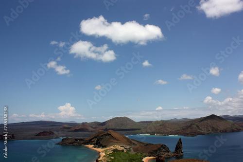 Fotobehang Zuid-Amerika land Aerial view of Pinnacle Rock, Bartolome Island, Galapagos, Ecuador
