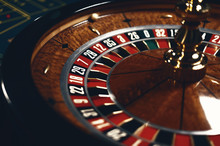 Roulette Table In Casino, With...