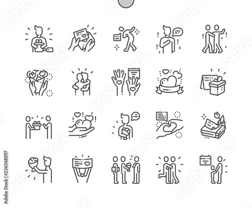 Valokuva International Thank You Day Well-crafted Pixel Perfect Vector Thin Line Icons 30 2x Grid for Web Graphics and Apps
