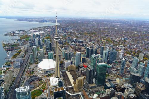Papiers peints Toronto Aerial of Toronto CN Tower