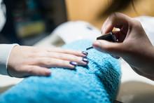Nail Polish At The Manicure Sa...