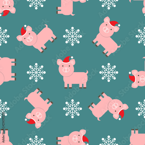 Christmas wallpaper pattern with cute