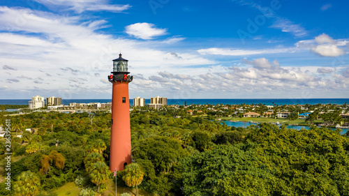 Jupiter Inlet Lighthouse at Christmas Canvas-taulu