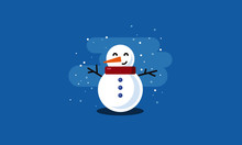 Snowman Vector Illustration In...