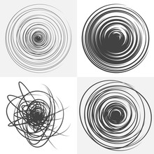 Scribble. Black And White Vector Design Element.