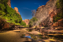 Panorama Inside Canyon Aka Gue...