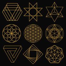 Sacred Geometry. Set Of Nine F...