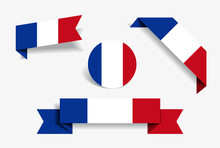 French Flag Stickers And Label...