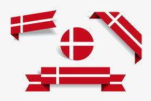 Danish Flag Stickers And Label...
