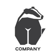 Modern Badger Logo
