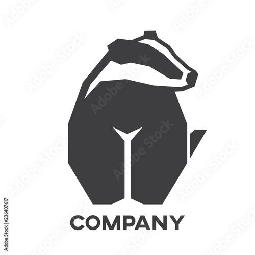 Modern badger logo Wallpaper Mural