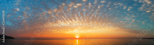 Poster Mer coucher du soleil Panoramic view of the coast of Turkey near Antalya