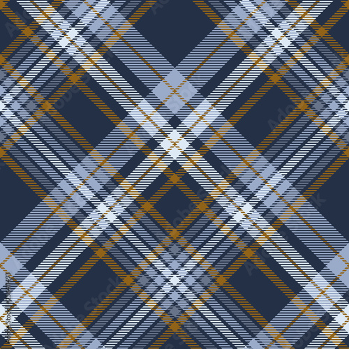 Photo  Plaid pattern in dusty blue, faded navy and brown